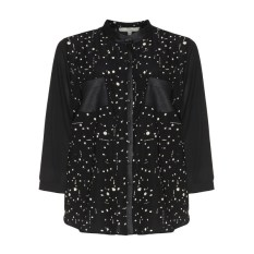 navabi jean marc phillipe polka dot blouse