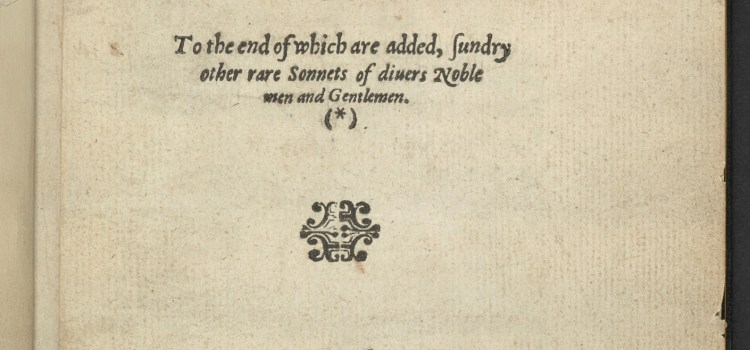 title page from 1591 printing of Astrophel and Stella