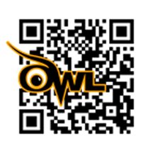 A QR code with the Purdue Owl Logo