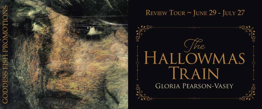 Goddess Fish tour banner for The Hallowmas Train by Gloria Pearson-Vasey