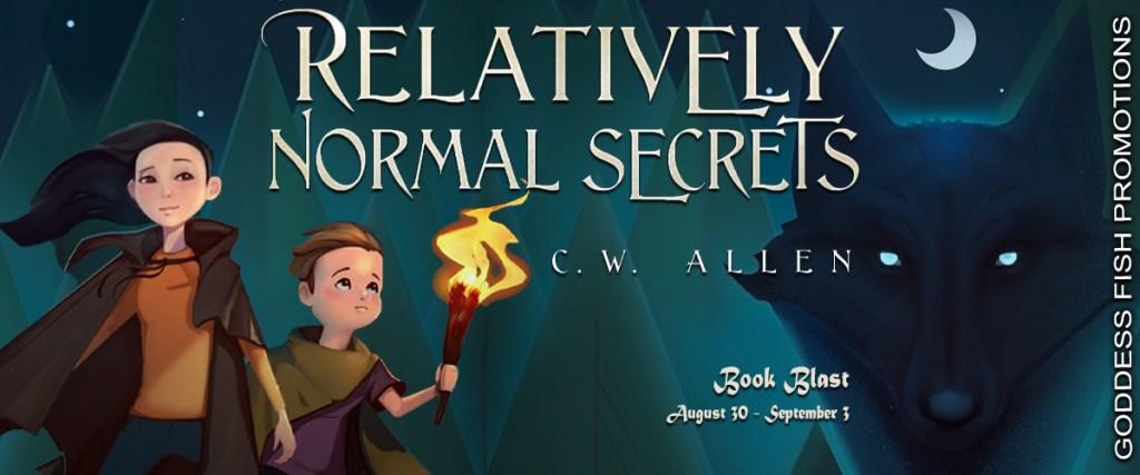 Goddess Fish book tour banner for Relatively Normal Secrets