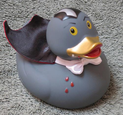 A vampire rubber duck.