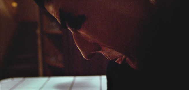 A close-up of the face of the masked killer, played by Adam Lesar. (Night Of The Slasher still)