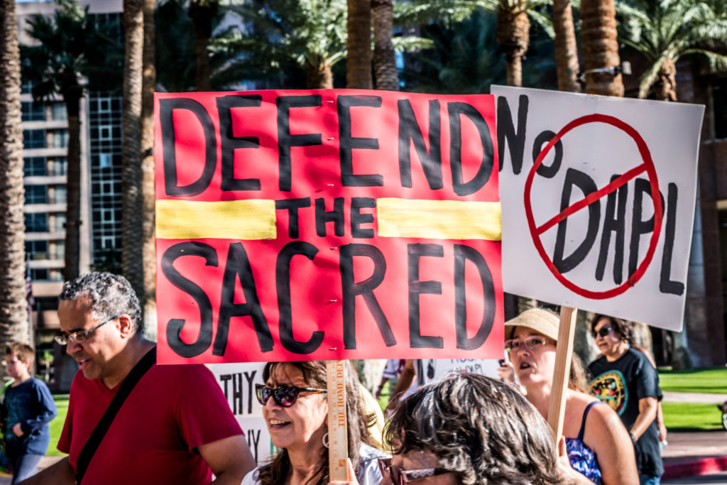 A rally against the Dakota Access Pipeline in Phoenix Arizona on November 12, 2016. (Flickr / Paulann Egelhoff)