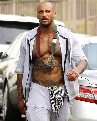 Kelly Brook's boyfriend David Mcintosh working out in Beverly Hills***NO DAILY MAIL SALES***