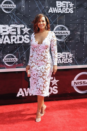 06/28/2015 - LisaRaye McCoy - 2015 BET Awards - Arrivals - Microsoft Theater - Los Angeles, CA, USA - Keywords: full length, actress, dress Orientation: Portrait Face Count: 1 - False - Photo Credit: Aaron J. Thornton / PR Photos - Contact (1-866-551-7827) - Portrait Face Count: 1