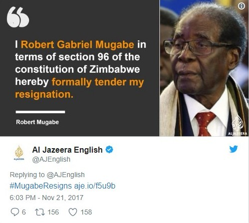 Mugabe S Departure Letter
