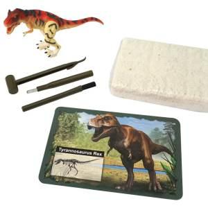 ערכת חפירה ארכיאולוגיה זוהרת בחושך 3D דינוזאורים T-REX