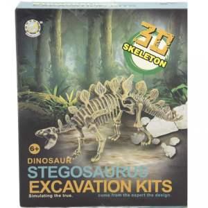 חפירת שלד דינוזאור Stegosaurusערכת טבע ומדע