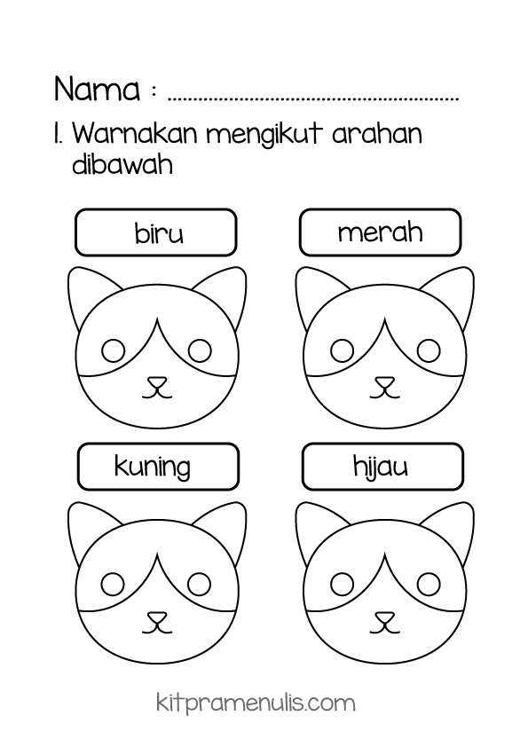 warna Mengenal Warna Asas | Warna Kucing Mengikut Warna Yang Ditetapkan