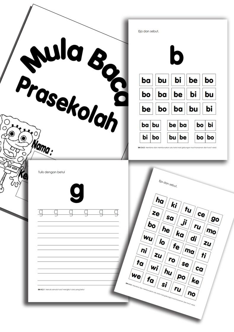 1 Ebook Mula Baca Prasekolah | Dapatkan Secara Percuma Ebook Mula Baca Prasekolah