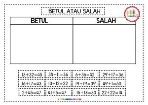 Mini-Worksheet-1-50-Betul-Atau-Salah-05 Mini Worksheet 1-50 Betul Atau Salah-05