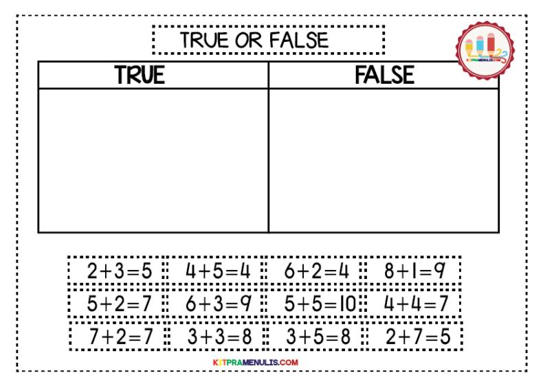 Mini-Worksheet-Kira-1-10-TRUE-OR-FALSE-01 Mini Worksheet Mathematic I Can Count 1 To 10