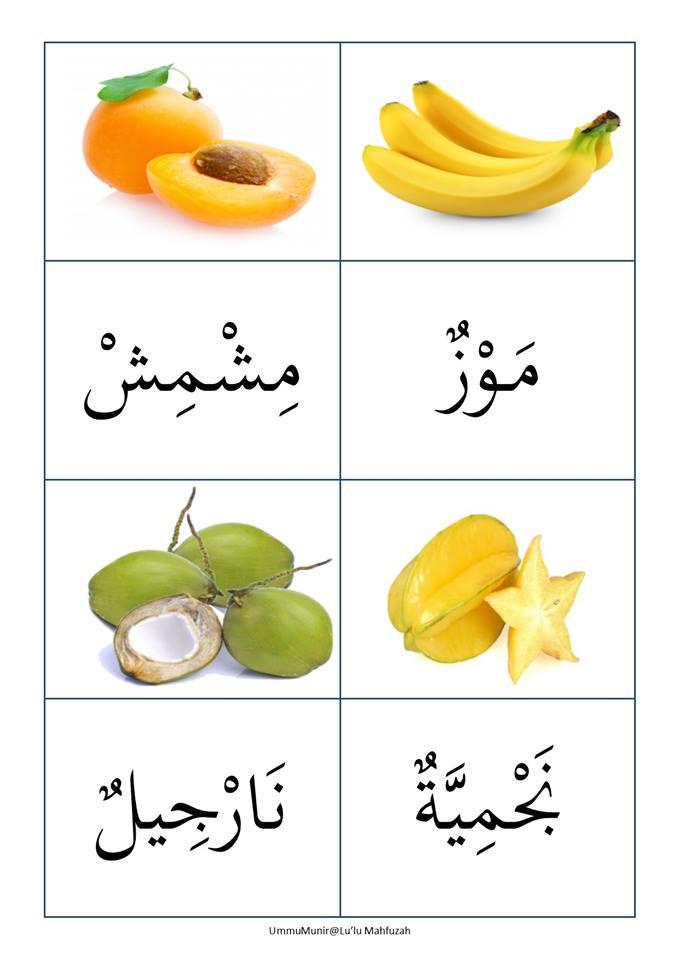 abm-bahasa-arab-buah-buahan Kad Bergambar Bahasa Arab Mari Kenal Buah Buahan
