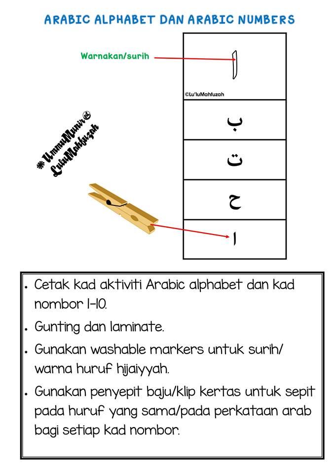 latihan-nombor-bahasa-arab Kad Aktiviti Huruf Dan Nombor Bahasa Arab