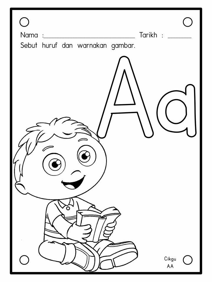 Gambar Bahasa Malaysia Satu Latihan Mewarna Gambar