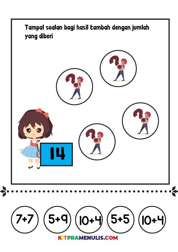 Operasi-Tambah-1-20-TAMPAL-01 Latihan Operasi Tambah 1 Hingga 20 Untuk Prasekolah