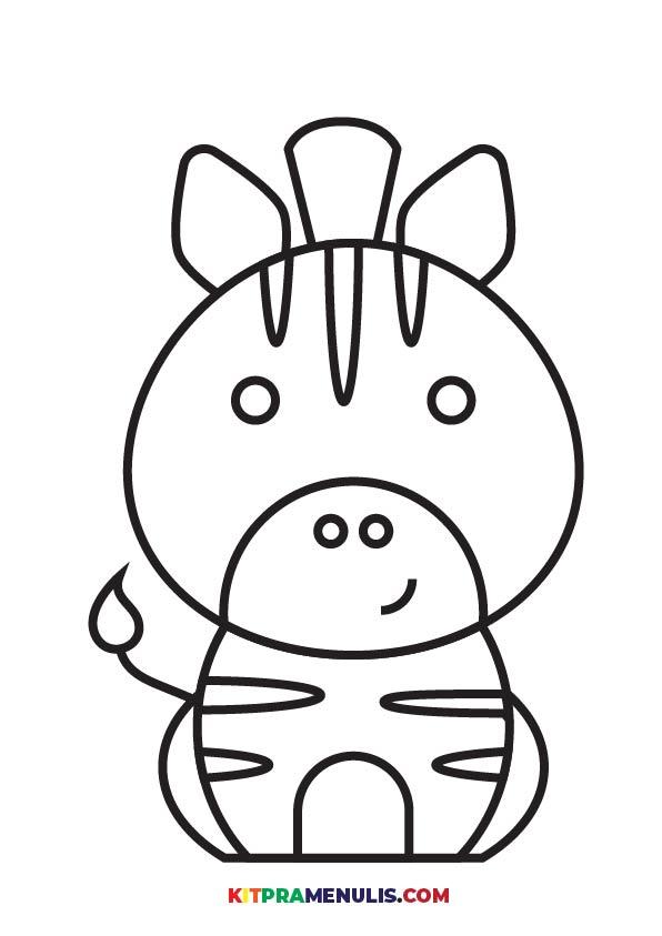 Warna-Haiwan-01 Mini Prasekolah | Latihan Mewarna Haiwan Grafik Berkualiti