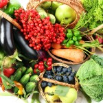 kitsap community food co-op, fresh organic vegetables in wicker baskets