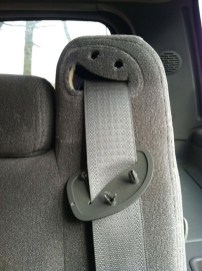 Drooling seatbelt