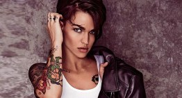 Ruby Rose Rocks Leather in Nothing But Underwear