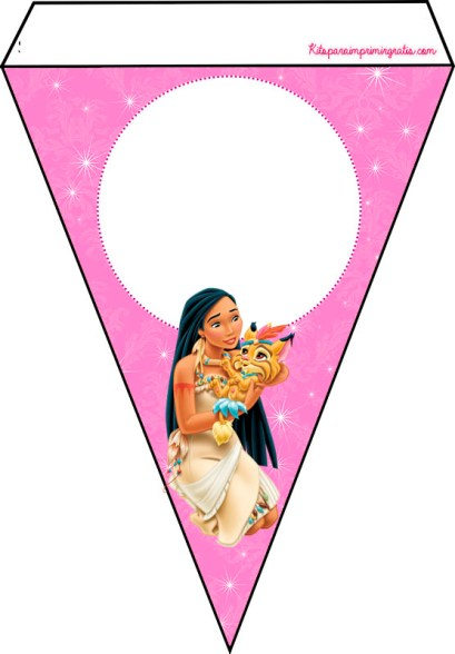 Pocahontas Disney Printables free Birthday Party