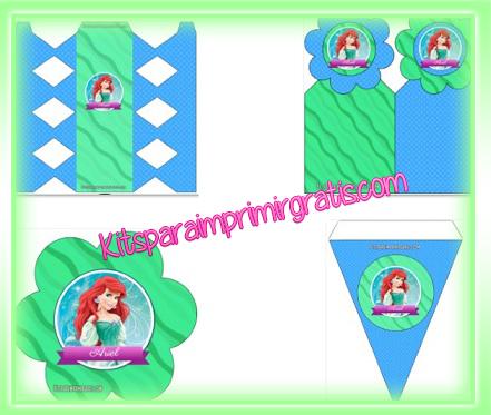 Kits de La Sirenita para imprimir gratis