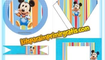 Imprimibles Gratis De Minnie Y Mickey Para Fiesta Kits Para