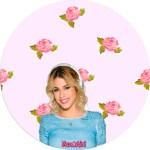 Etiquetas ciculares de Violetta Disney