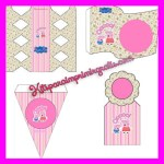 Kit de Peppa Pig y George Pig para imprimir y decorar