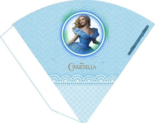 Cono caja de Cinderella para imprimir y armar