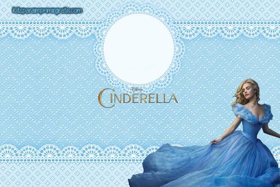 Imagen de Cinderella 2015 para etiqueta marco para foto invitaciones etiquetas