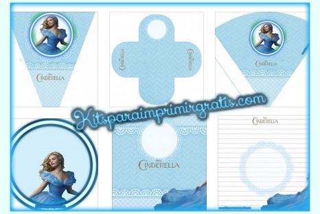 Kits de Cinderella 2015 moderna para imprimir gratis