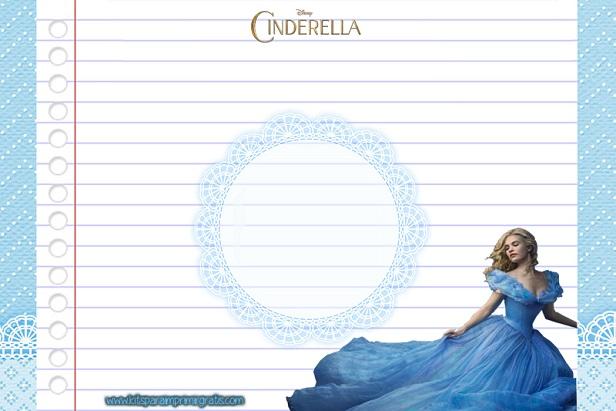 Papel de Carta de Cinderella moderna 2015