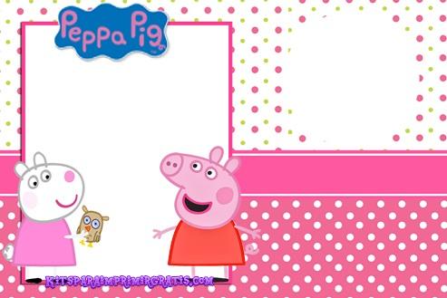 Etiquetas de Peppa Pig - Stickers de peppa Pig - Marcos para fotos peppa cerdita
