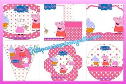 Kit imprimible de Peppa Pig y sus amigos