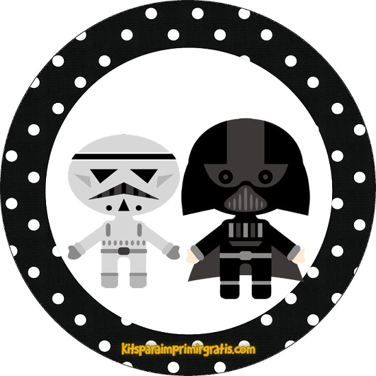 Etiquetas Star Wars 7 - Stickers Star Wars 7 para imprimir gratis - Toppers y decoración Star Wars