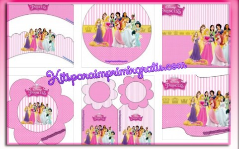 Fiesta de Princesas Disney moldes imprimibles gratis