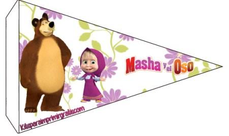 Adornos de Masha y El Oso - Pegatinas Masha y Oso - Stickers Masha y Oso - Banderines Masha y Oso -Kits de Masha y Oso imprimibles gratis