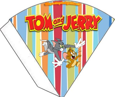 Conos sorpresa Tom y Jerry - Souvenirs Tom y Jerry - Kits imprimibles Tom y Jerry para descargar