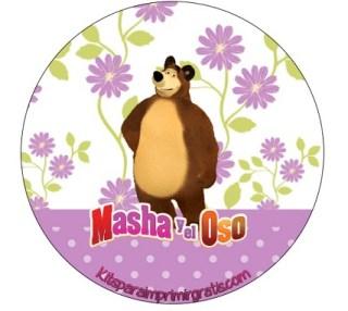 Etiquetas Masha y Oso - Stickers Masha y Oso - Fiesta Masha y Oso - Kits de Masha y Oso para imprimir gratis