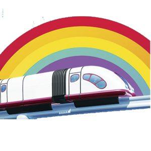 Monorriel de Topa decoración tren