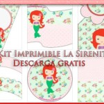 Kit Imprimible de La Sirenita bebé