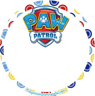 Kits Imprimibles Paw patrol para descargar gratis