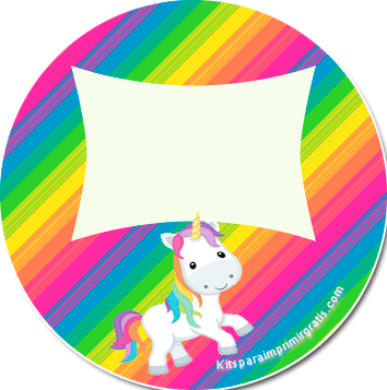 Unicornios etiquetas stickers