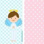 Kits con angeles para Bautismo varon y nina