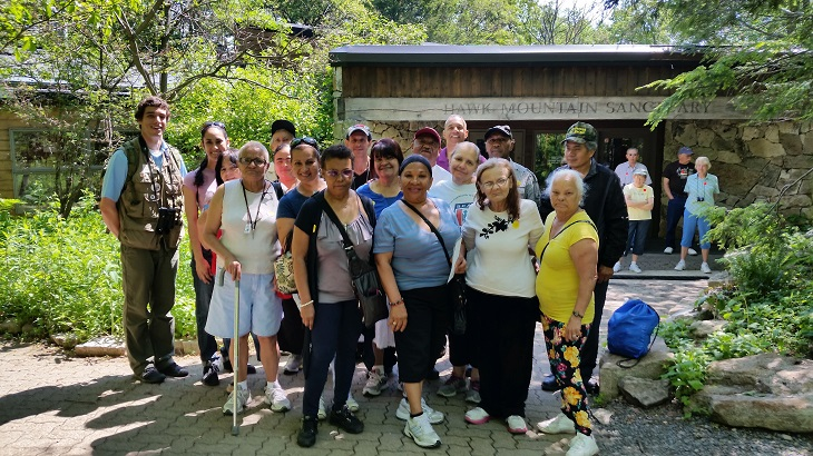 """Aves en la Kittatinny"" hike with Centro Hispano Daniel Torres, Inc. at Hawk Mountain Sanctuary"