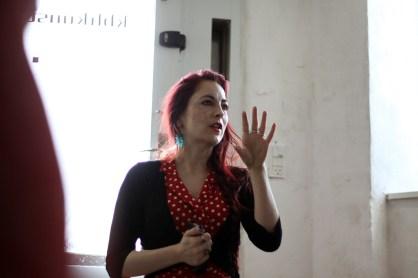 "Stilbillede af min artist talk til ferniseringen på ""Nefelibatas"" i Kbh Kunst."