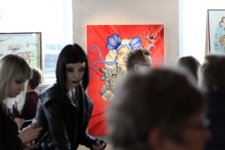 """Fra ferniseringen på """"Nefelibatas"""" i Galleri Kbh Kunst april 2018."""