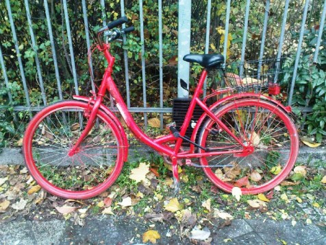 The Red Painted Bike